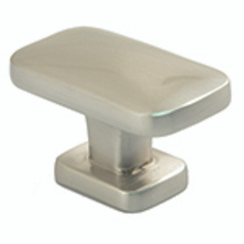 "Rusticware, 1 1/2"" Rectangle Knob, Satin Nickel"