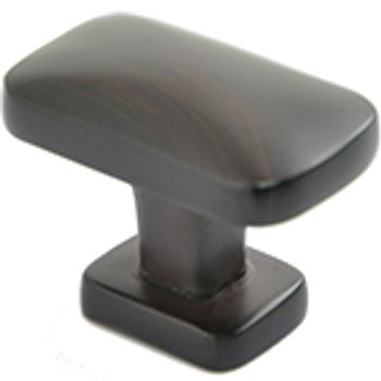 "Rusticware, 1 1/2"" Rectangle Knob, Oil Rubbed Bronze"