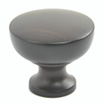 "Rusticware, 1 1/8"" Round Flat Top Knob, Oil Rubbed Bronze"