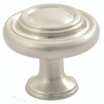 "Rusticware, 1 7/16"" Ringed Round knob, Satin Nickel"