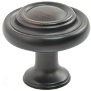 "Rusticware, 1 7/16"" Ringed Round knob, Oil Rubbed Bronze"