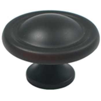 "Rusticware, 1 1/2"" Dome Top Round Knob, Oil Rubbed Bronze"