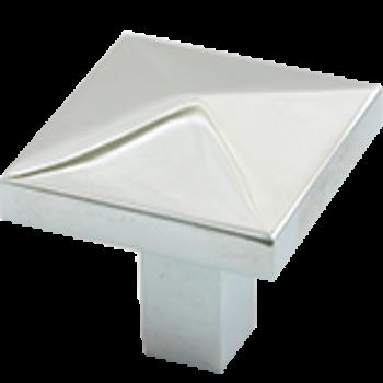 """Rusticware, 1 1/4"""" Diamond top Square knob, Satin Nickel"""