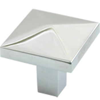 "Rusticware, 1 1/4"" Diamond top Square Knob, Satin Nickel"