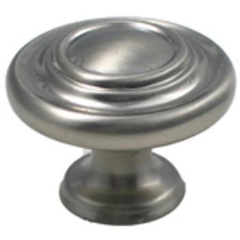 "Rusticware, 1 5/16"" Ringed knob, Satin Nickel"