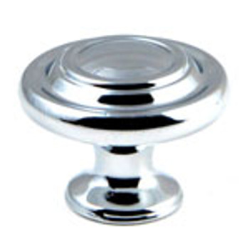 "Rusticware, 1 5/16"" Ringed knob, Chrome"