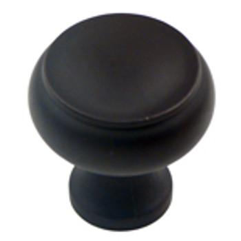 "Rusticware, 1 1/4"" Flat Top Round knob, Oil Rubbed Bronze"