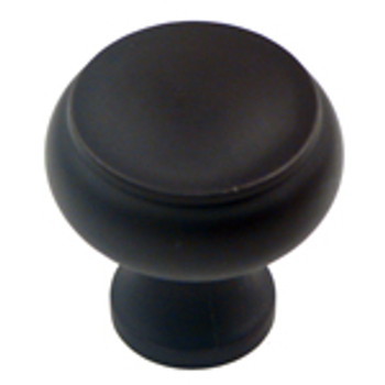 "Rusticware, 1 1/4"" Flat Top Round Knob, Oil Rubbed Bronze"