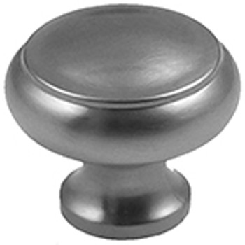 "Rusticware, 1 1/2"" Flat Top Round Knob, Satin Nickel"