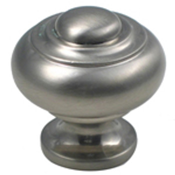 "Rusticware, 1 1/8"" Ring top Round knob, Satin Nickel"