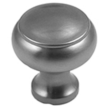 "Rusticware, 1 1/4"" Flat Top Round knob, Satin Nickel"