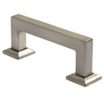 "Rusticware, 3"" Square End pull, Satin Nickel"