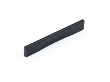 "Schaub and Company, Aria, 3 3/4"" (96mm) and 5 1/16"" (128mm) Straight Tab Pull, Matte Black"