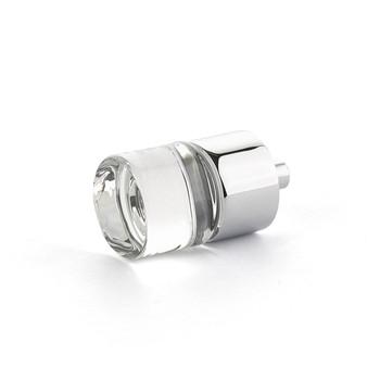 "Schaub and Company, City Lights, 7/8"" Round knob, Clear with Polished Chrome"
