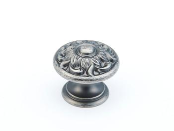 "Schaub and Company, Corinthian, 1 3/8"" Round Knob, Corinthian Silver"