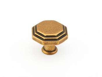 "Schaub and Company, Firenza, 1 1/8"" Round knob, Light Firenza Bronze"