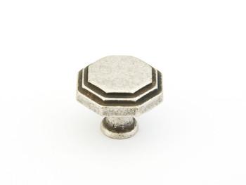 "Schaub and Company, Firenza, 1 1/8"" Round knob, Firenza Silver"