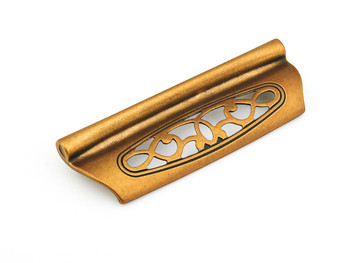 "Schaub and Company, Firenza, 3 3/4"" (96mm) Cup Pull, Light Firenza Bronze"
