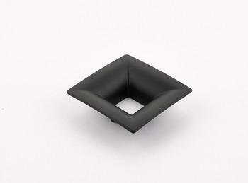 """Schaub and Company, Finestrino, 1 1/4"""" (32mm) Small Flared Square Pull, Matte Black"""