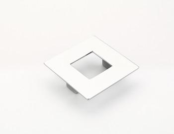 "Schaub and Company, Finestrino, 2 1/2"" (64mm) Small Square pull, Polished Chrome"