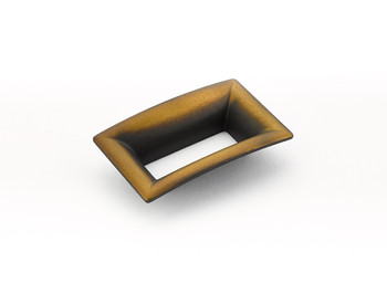 "Schaub and Company, Finestrino, 2 1/2"" (64mm) Medium Flared Square Pull, Burnished Bronze"