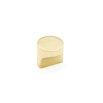 "Schaub and Company, Haniburton, 1 1/4"" Round Pull Knob, Unlacquered Brass"