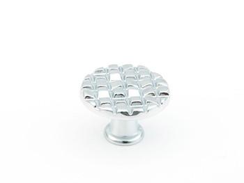 "Schaub and Company, Mosaic, 1 1/8"" Round knob, Polished Chrome"