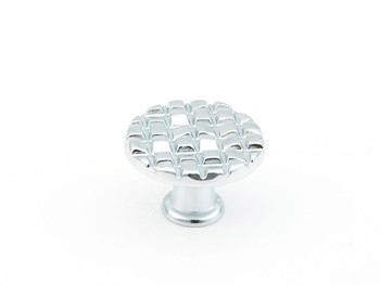 "Schaub and Company, Mosaic, 1 1/8"" Round Knob, Polished Chrome"
