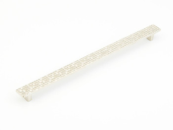 "Schaub and Company, Mosaic, 12 5/8"" (320mm) Bar pull, Satin Nickel"