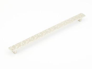 "Schaub and Company, Mosaic, 12 5/8"" (320mm) Bar Pull, Satin Nickel"