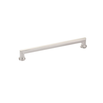 "Schaub and Company, Empire, 8"" Straight pull, Brushed Nickel"