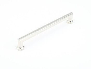 "Schaub and Company, Empire, 8"" Straight pull, Polished Nickel"