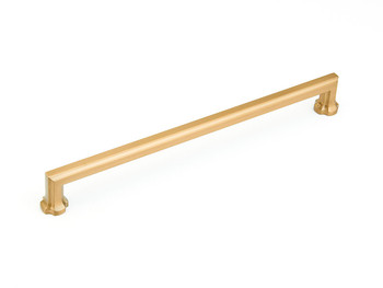 """Schaub and Company, Empire, 15"""" Appliance Pull, Brushed Bronze"""