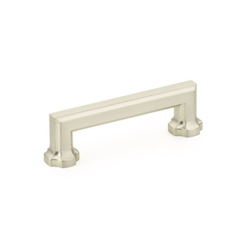 "Schaub and Company, Empire, 3 1/2"" Straight pull, Satin Nickel"