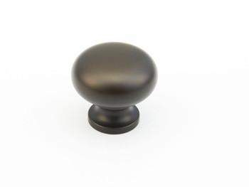 "Schaub and Company, Traditional, 1 1/4"" Mushroom Round Knob, Oil Rubbed Bronze"