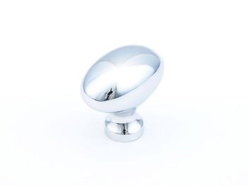 "Schaub and Company, Country / Traditional, 1 3/8"" Egg Oval knob, Polished Chrome"