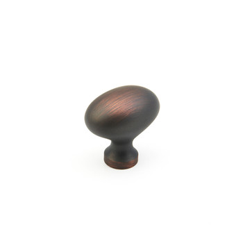 "Schaub and Company, Country / Traditional, 1 3/8"" Egg Oval knob, Michelangelo Bronze"
