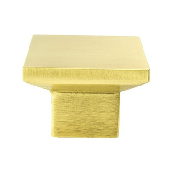 "Berenson, Elevate, 1 9/16"" Square knob, Satin Gold"