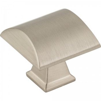 "Jeffrey Alexander, Roman, 1 1/4"" Square Knob, Satin Nickel"