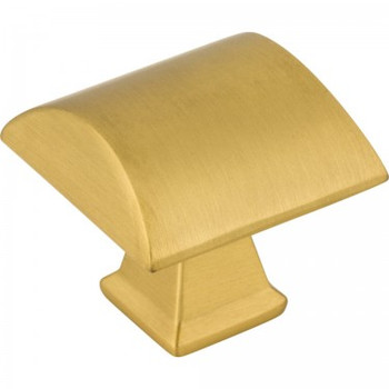 "Jeffrey Alexander, Roman, 1 1/4"" Square Knob, Brushed Gold"