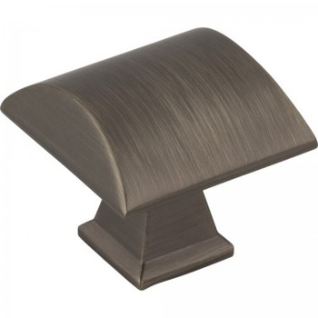 "Jeffrey Alexander, Roman, 1 1/4"" Square Knob, Brushed Pewter"