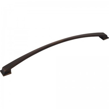 """Jeffrey Alexander, Roman, 12"""" (305mm) Curved Pull, Brushed Oil Rubbed Bronze"""
