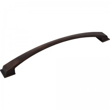 """Jeffrey Alexander, Roman, 12"""" (305mm) Curved Appliance Pull, Brushed Oil Rubbed Bronze"""