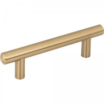 "Jeffrey Alexander, Key West, 3 3/4"" (96mm), 5 3/4"" Total Length Bar Pull, Satin Bronze"
