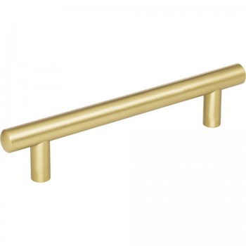 "Jeffrey Alexander, Key West, 5 1/16"" (128mm), 7"" Total Length Bar Pull, Brushed Gold"