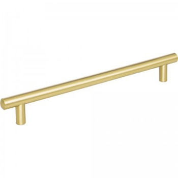 "Jeffrey Alexander, Key West, 8 13/16"" (224mm), 10 13/16"" Total Length Bar Pull, Brushed Gold"