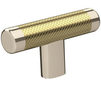 "Amerock, Esquire, 2 5/8"" Pull Knob, Polished Nickel / Golden Champagne"