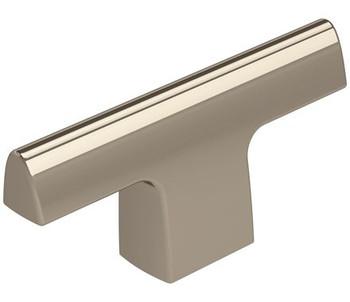 "Amerock, Riva, 2 1/2"" Length Pull Knob, Polished Nickel"