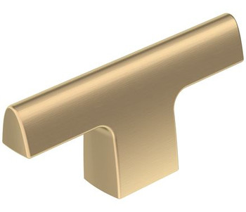 "Amerock, Riva, 2 1/2"" Length Pull Knob, Golden Champagne"