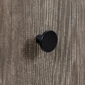 """Century, Round, 1"""" Round Knob, Matte Black - installed"""